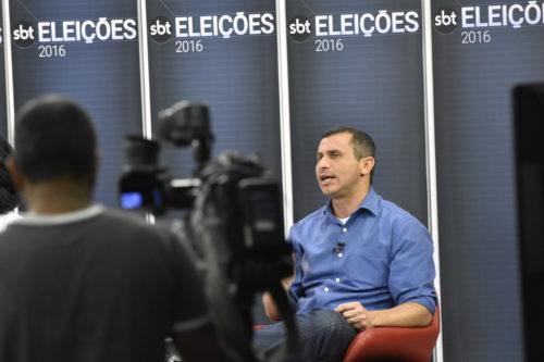 Felipe durante debate do SBT | Foto: André Redlich