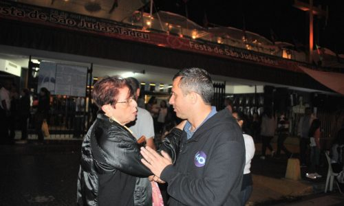 Felipe Peixoto fez panfletagem em Icaraí e reforçou propostas para servidores públicos